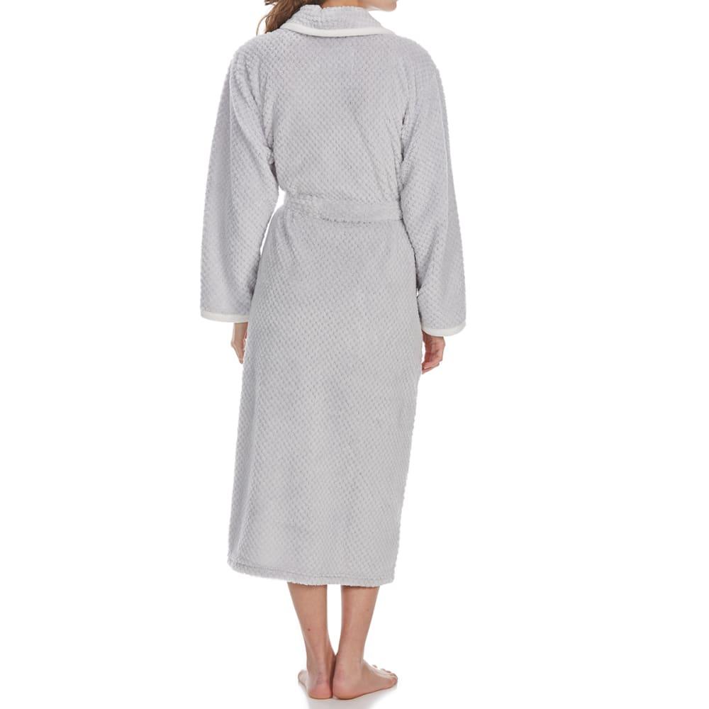 ST. EVE Women's Powder Puff Plush Robe - ICY SILVER-040