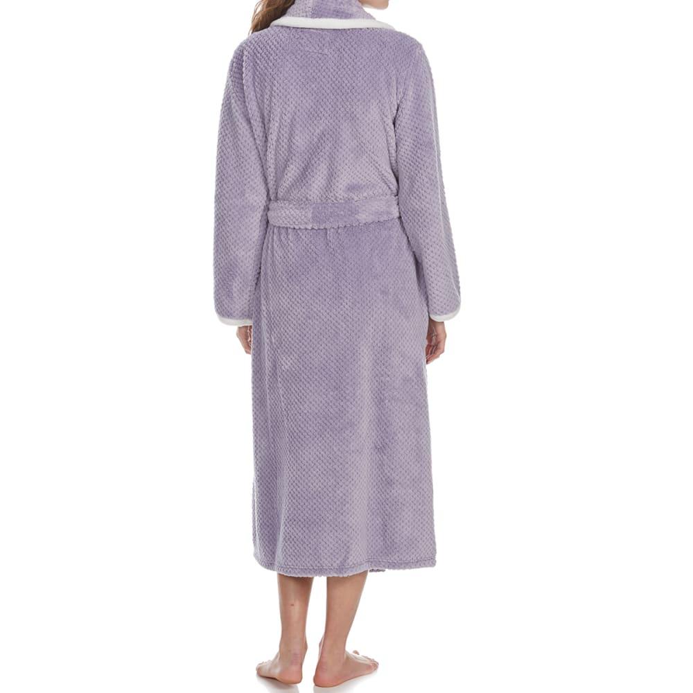 ST. EVE Women's Powder Puff Plush Robe - PLUM SHADOW-521