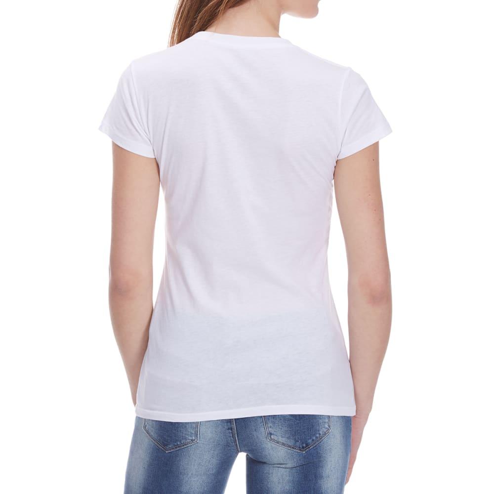 HYBRID Juniors' Americana Yin Yang Short-Sleeve Tee - WHITE