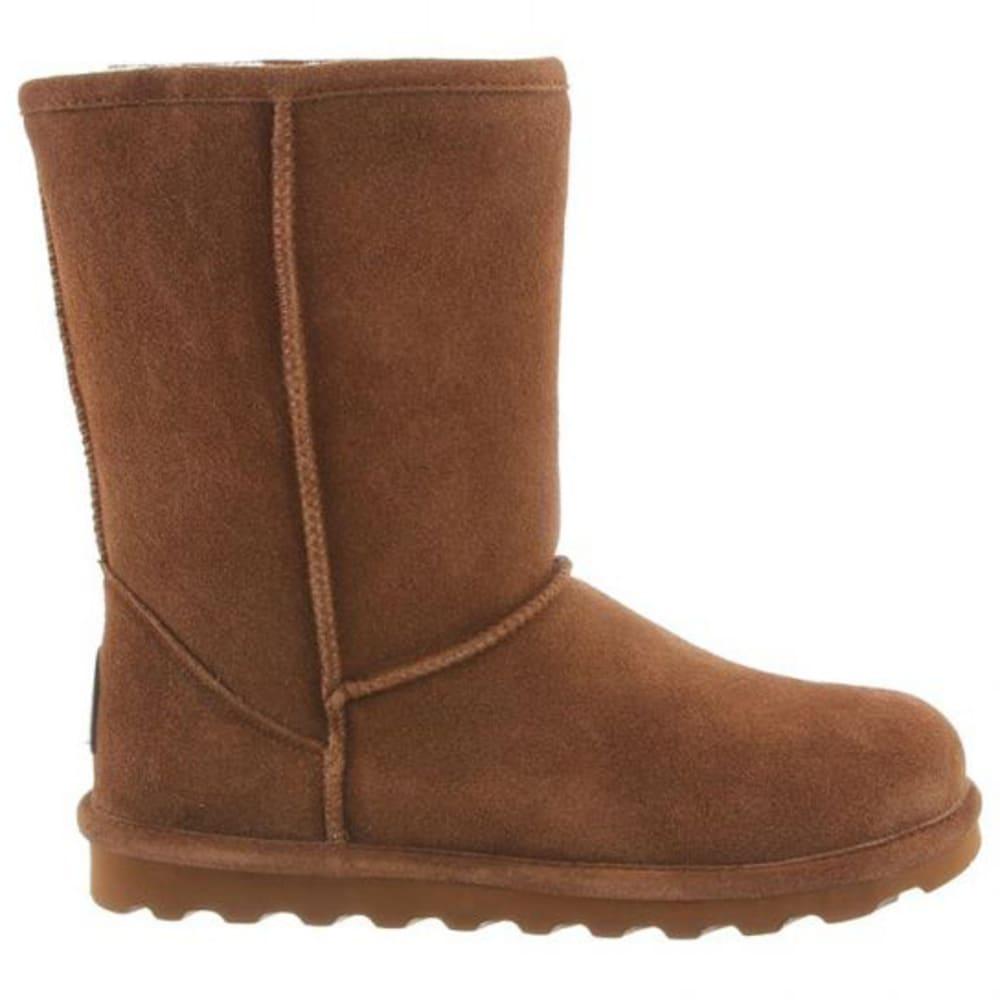 BEARPAW Women's Elle Short Boots, Hickory - HICKORY