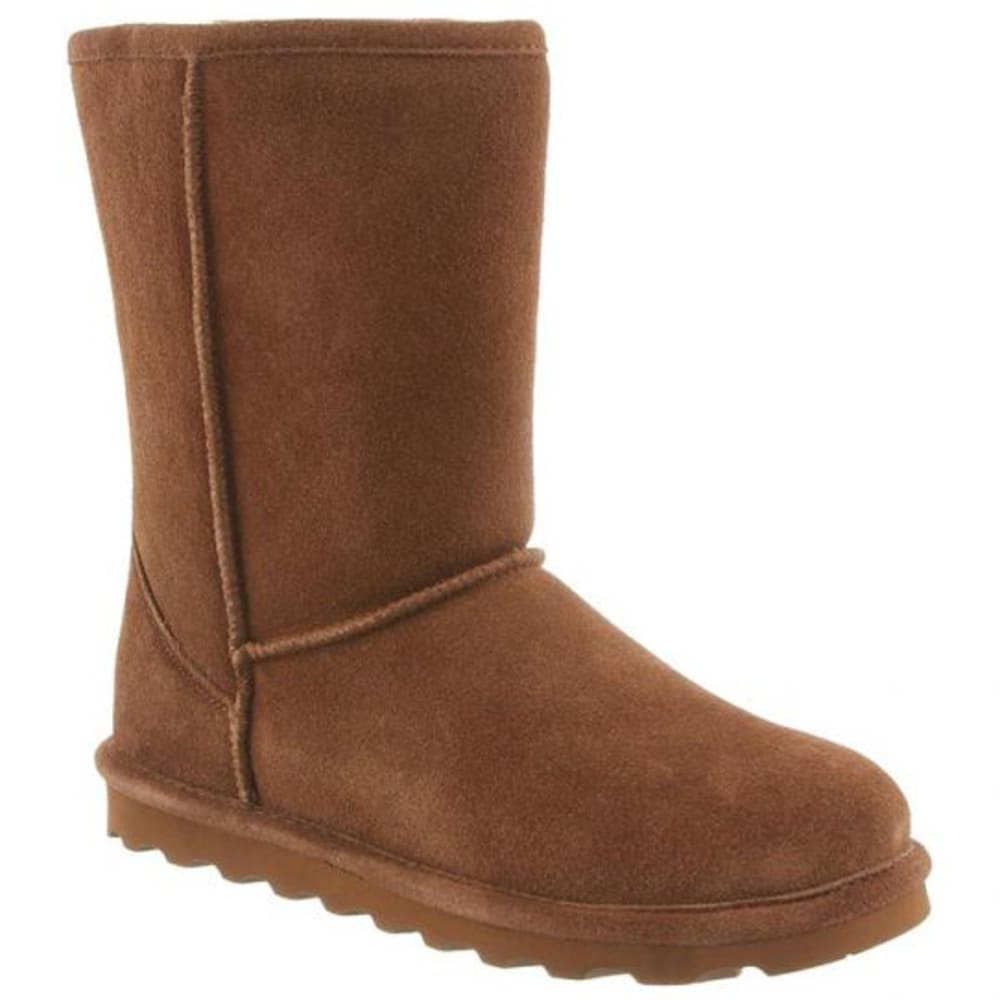 BEARPAW Women's Elle Short Boots, Hickory - HICKORY