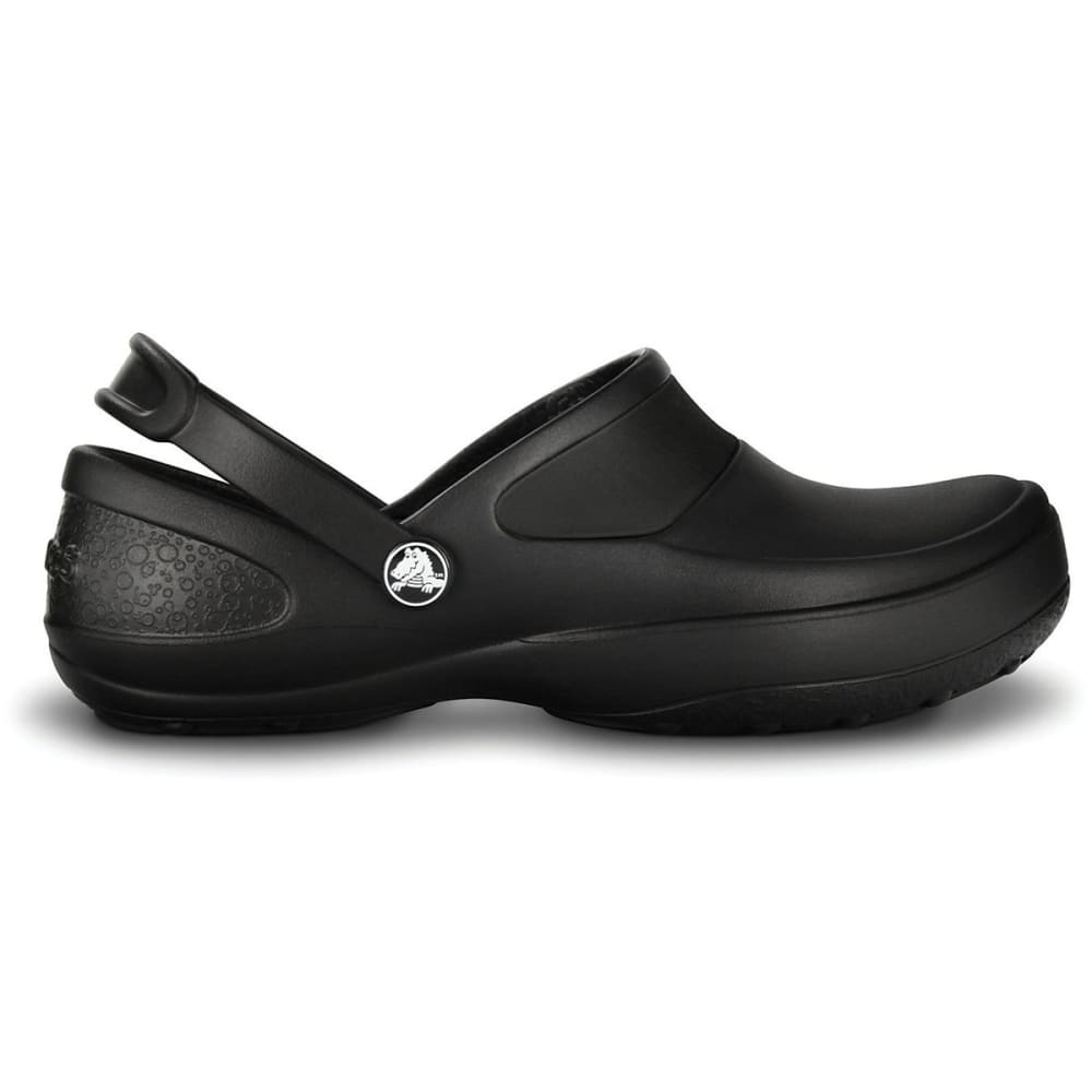 CROCS Women's Mercy Work Clogs, Black - BLACK