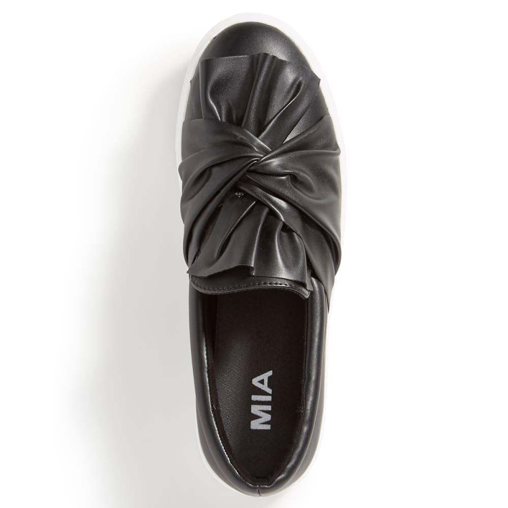 MIA Women's Zoe Knot Slip-On Sneakers, Black - BLACK