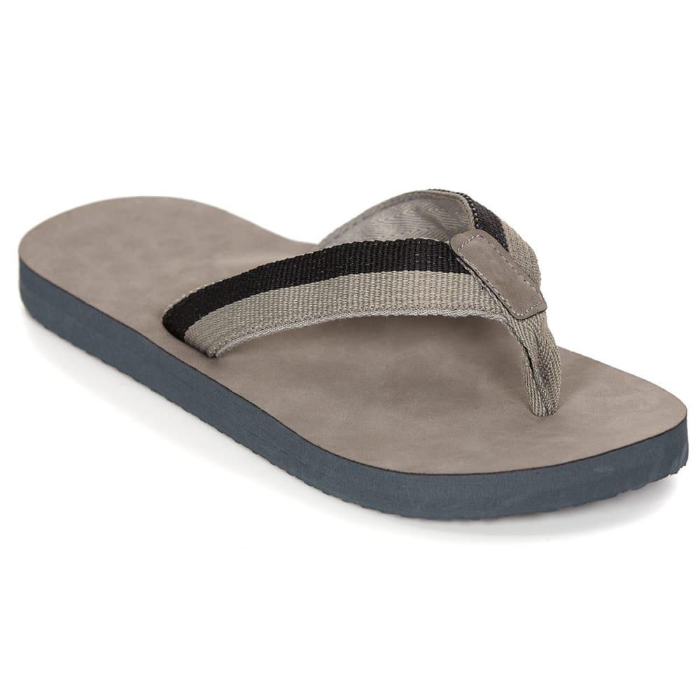 HANG TEN Men's Aptos Sandals, Grey/Black - GREY/BLACK