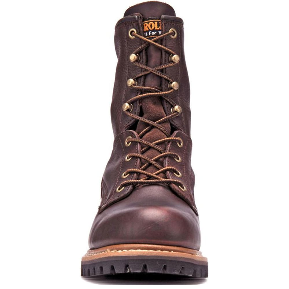 CAROLINA Men's 8 in. 821D Soft Toe Logger Boots - MED BROWN