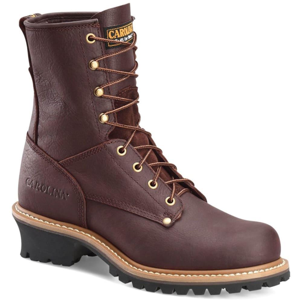 CAROLINA Men's 8 in. 821D Soft Toe Logger Boots - MED BROWN