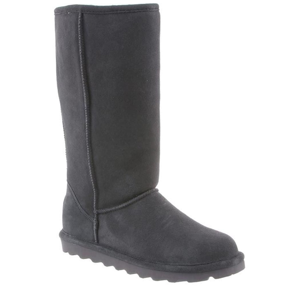 BEARPAW Women's Elle Tall Boots, Charcoal - CHARCOAL