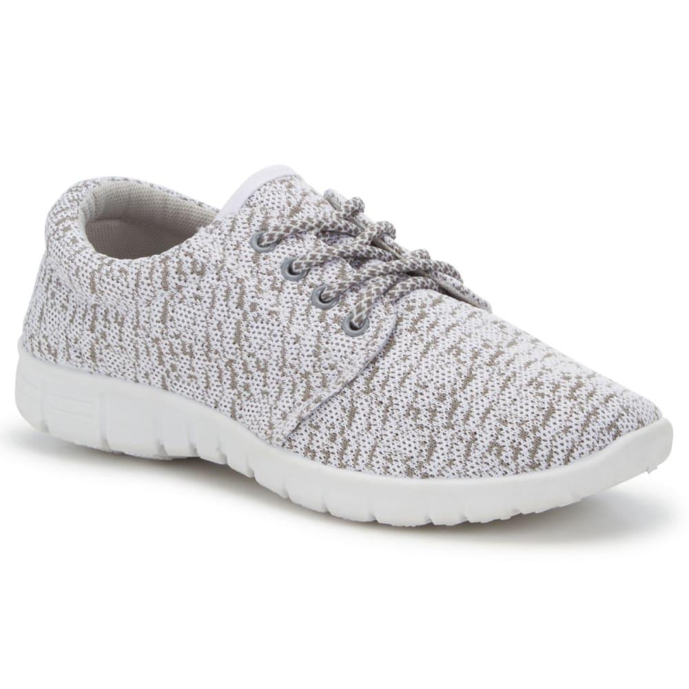MIA Women's Vamp Knit Sneakers, Taupe/White - TAUPE/WHITE