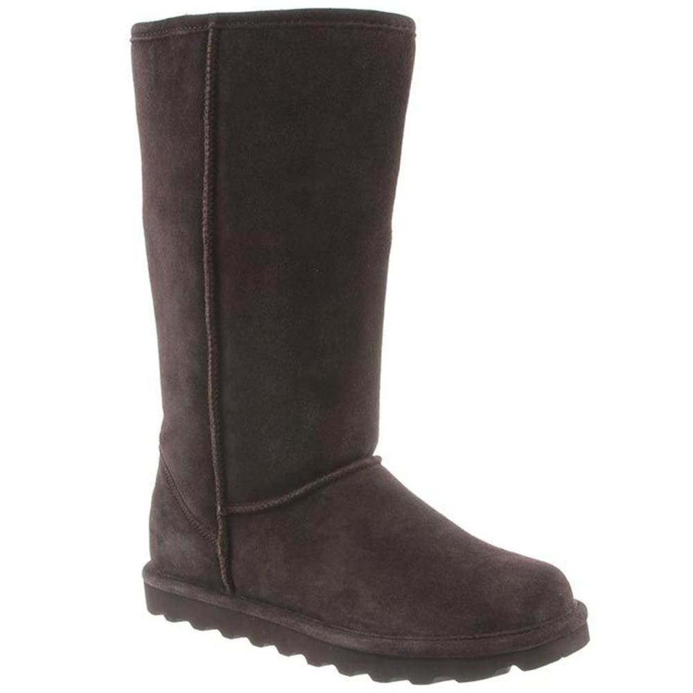 BEARPAW Women's Elle Tall Boots, Chocolate - CHOCOLATE