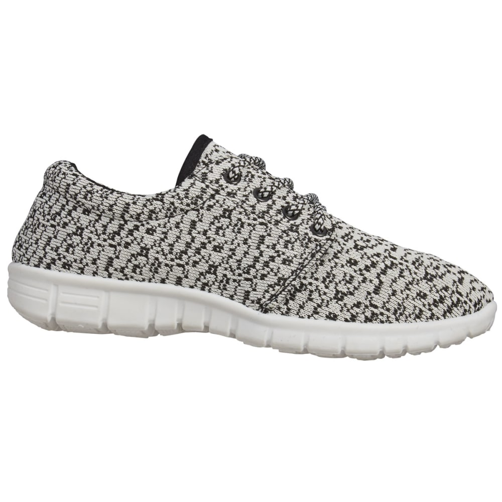 MIA Women's Vamp Knit Sneakers, Black/White - BLACK/WHITE