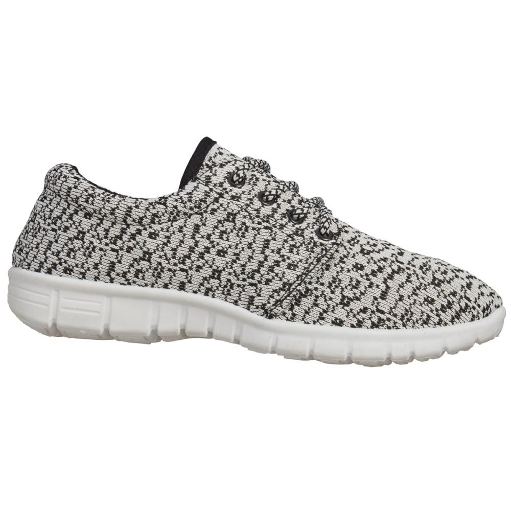 MIA Women's Vamp Knit Sneakers, Black/White - BLACK/WHITE