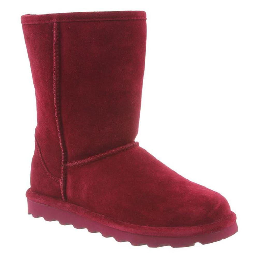 Bearpaw Women's Elle Short Boots, Bordeaux - Red, 6