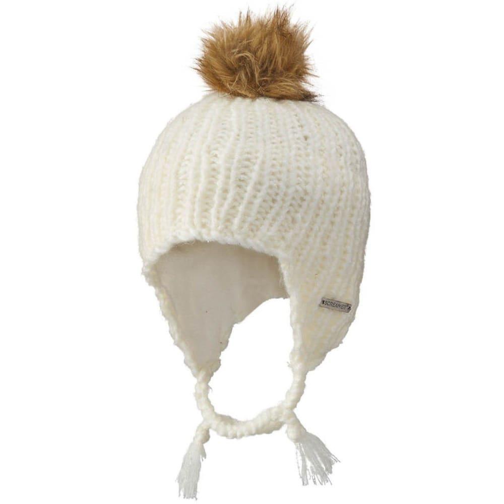 SCREAMER Women's Abby Earflap Hat - WHITE-900