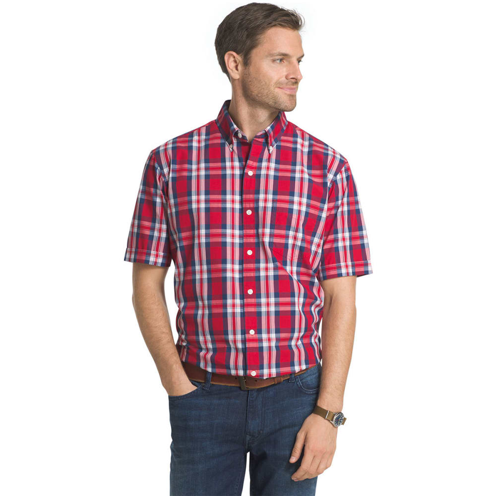 Arrow Men's Heritage Beach Short Sleeve Woven Shirt - Red, M