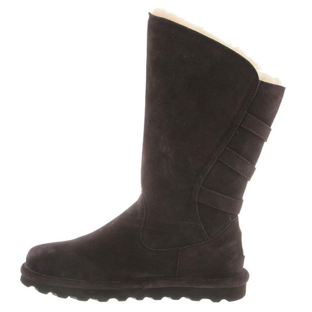 BEARPAW Women's Jenna Tall Boots, Chocolate - CHOCOLATE
