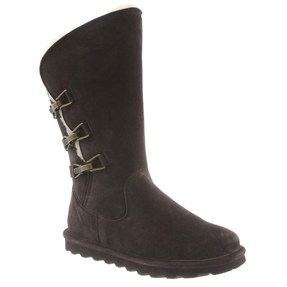 BEARPAW Women's Jenna Tall Boots, Chocolate - CHOCOLATE
