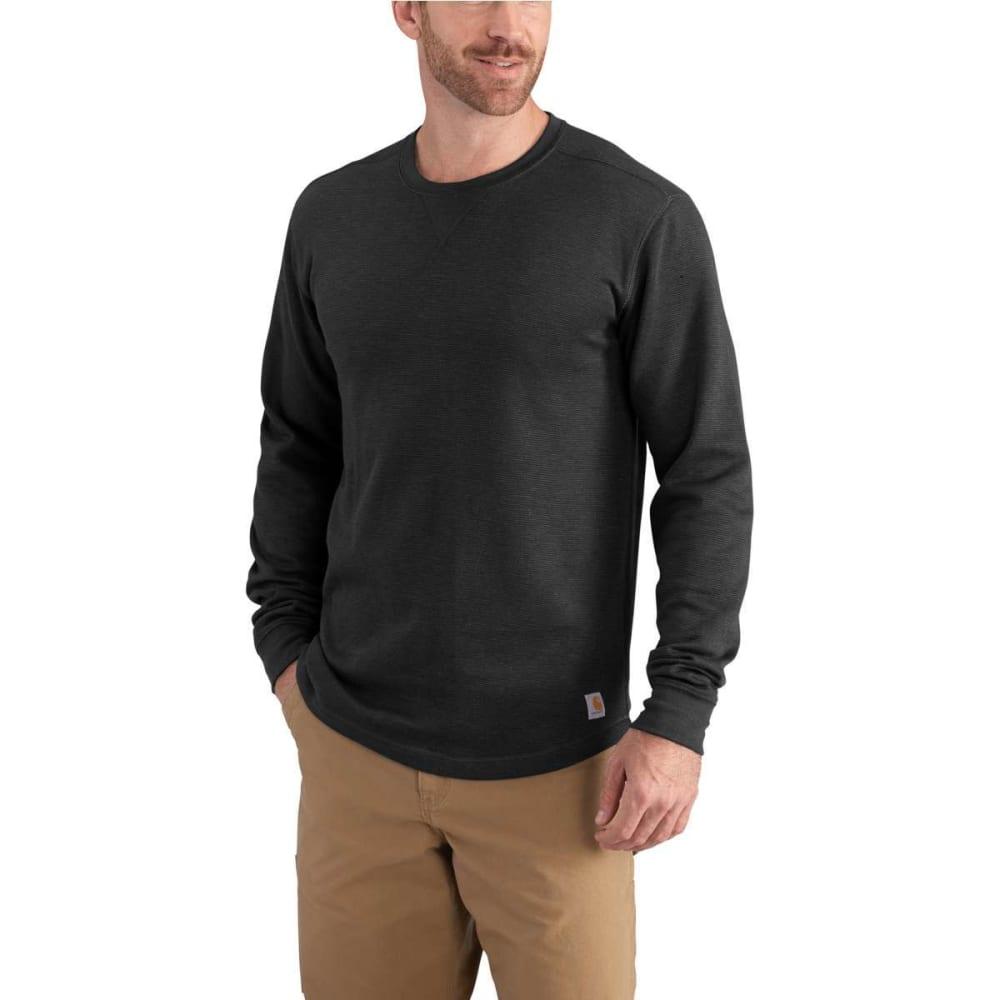 CARHARTT Men's Tilden Crewneck Long-Sleeve Shirt - 001-BLACK