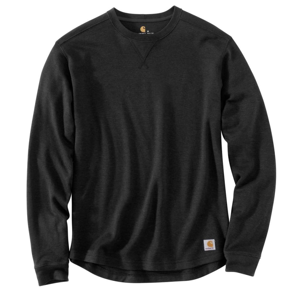 Carhartt Men's Tilden Crewneck Long-Sleeve Shirt - Black, M