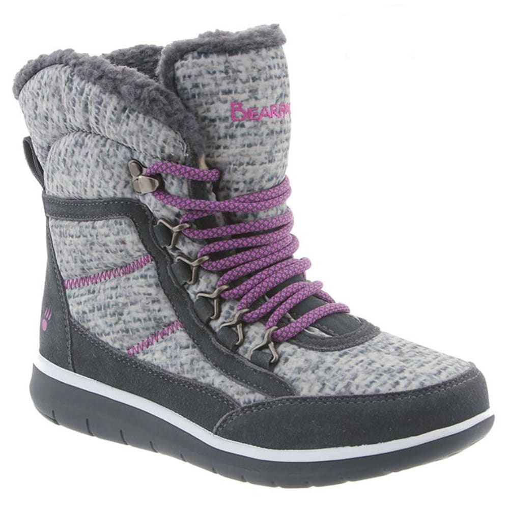 BEARPAW Women's Ruby Boots, Charcoal - CHARCOAL