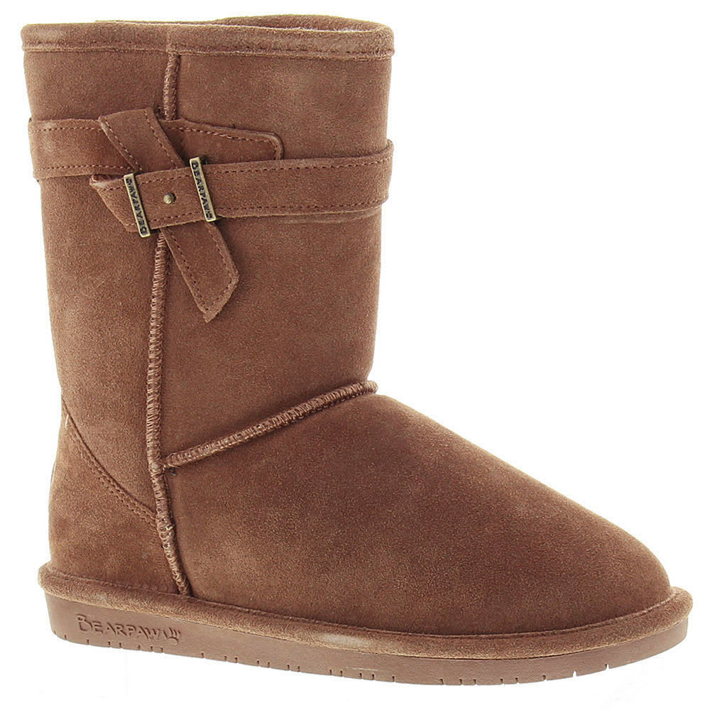 BEARPAW Girls' Val Boots, Taupe - TAUPE