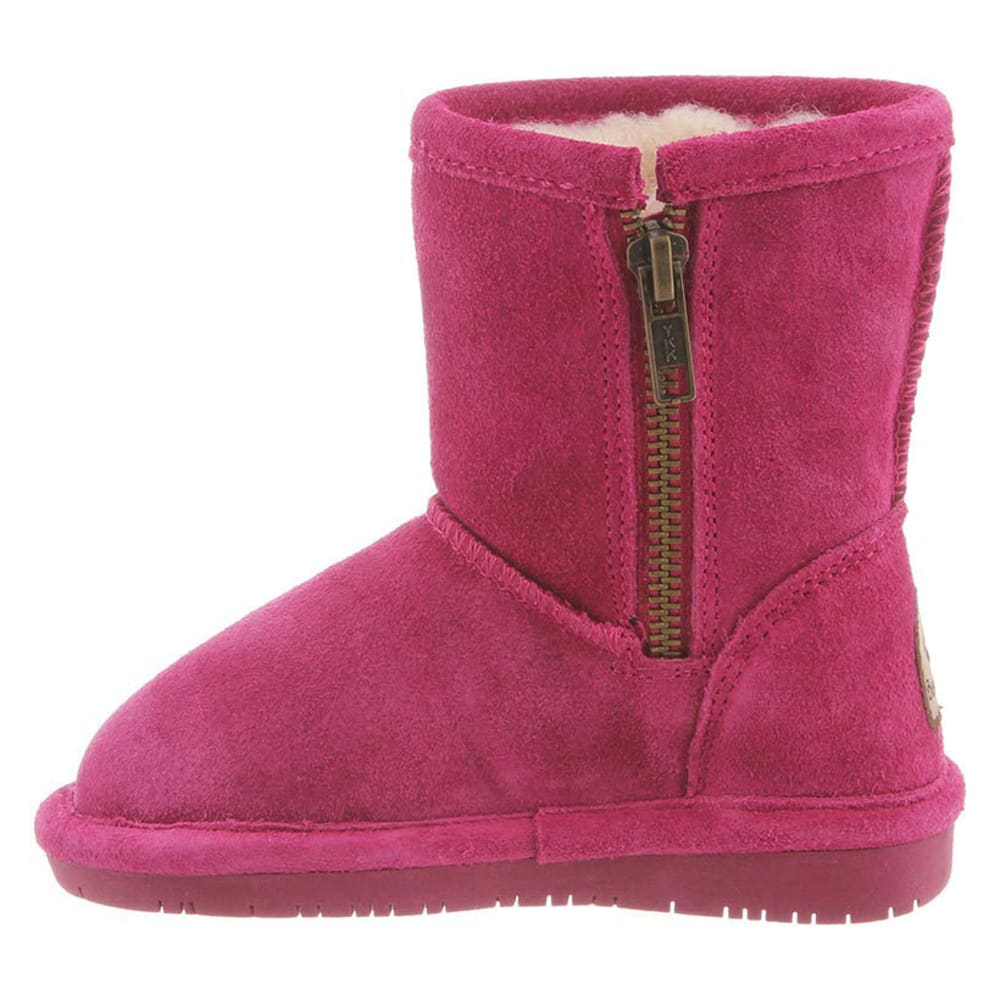 BEARPAW Toddler Girls' Emma Zipper Boots, Pomberry - POMBERY