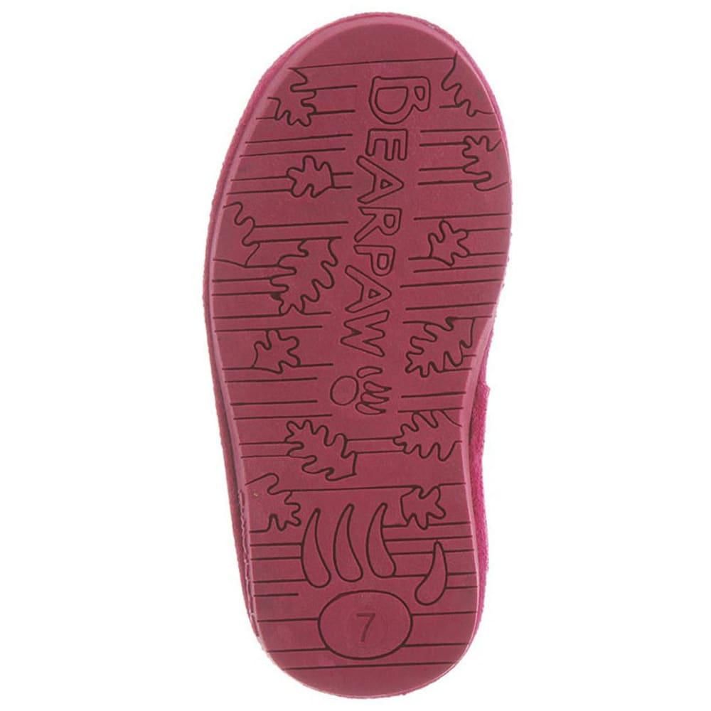 BEARPAW Toddler Girls' Emma Zipper Boots, Pomberry - POMBERY