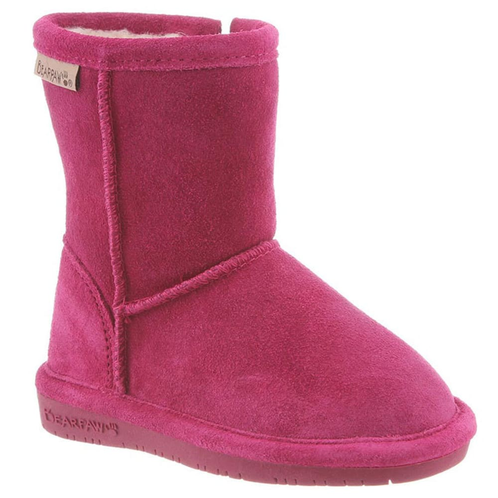 Bearpaw Toddler Girls Emma Zipper Boots, Pomberry - Brown, 9
