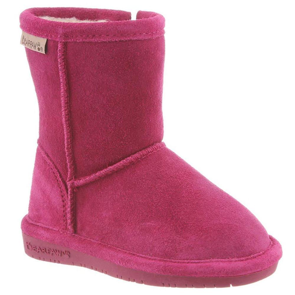 BEARPAW Toddler Girls' Emma Zipper Boots, Pomberry 9
