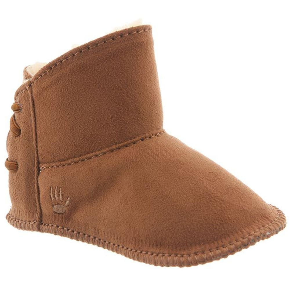 BEARPAW Toddler Girls' Kaylee Tall Booties, Hickory - HICKORY