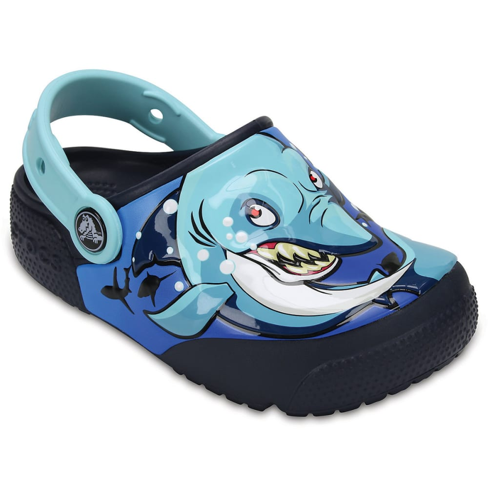 CROCS Kids' Fun Lab Lights Clogs, Blue - BLUE