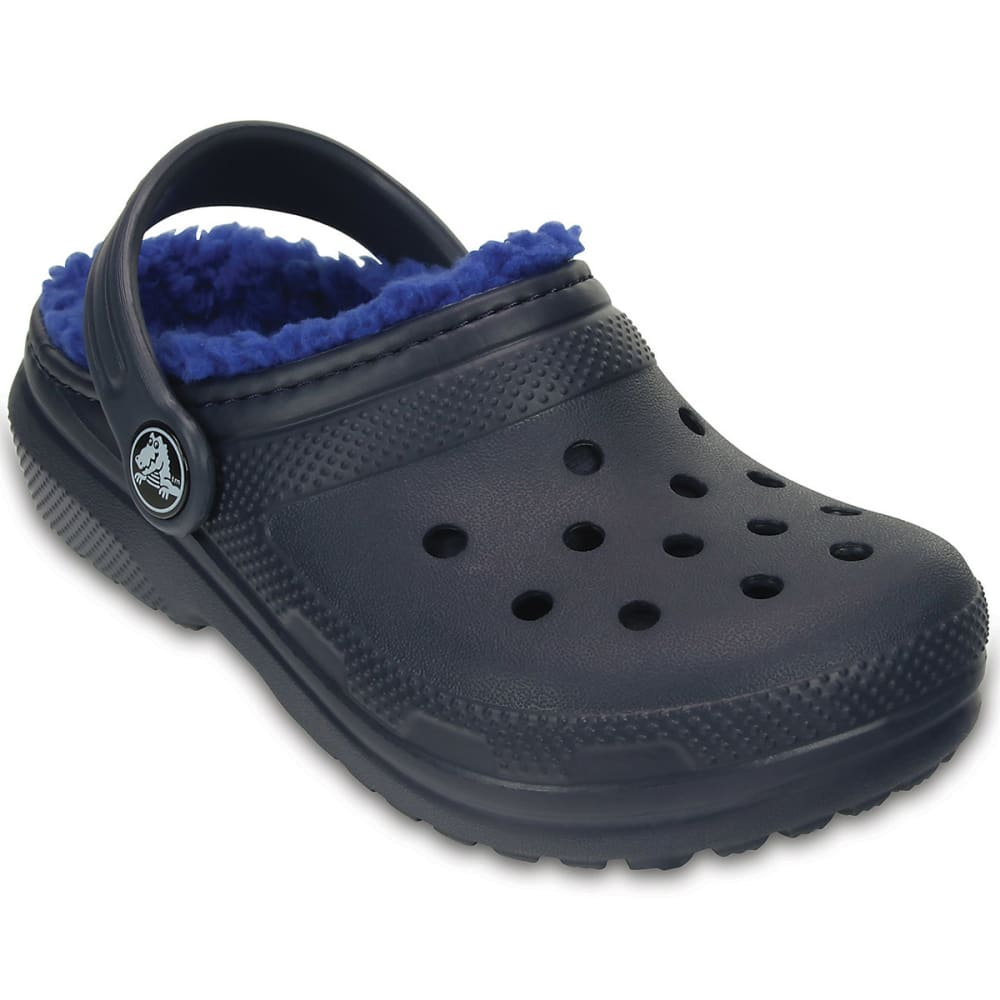 Crocs Kids' Classic Lined Clogs, Navy/blue