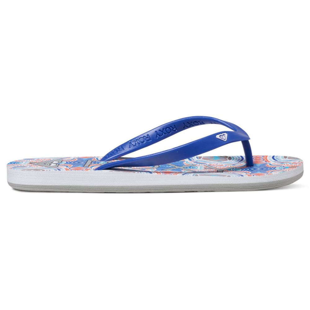 ROXY Women's Tahiti Flip-Flops, Red/Blue - RED/BLUE