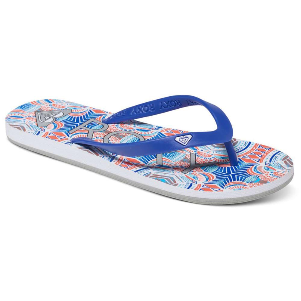 ROXY Women's Tahiti Flip-Flops, Red/Blue - RED/BLUE