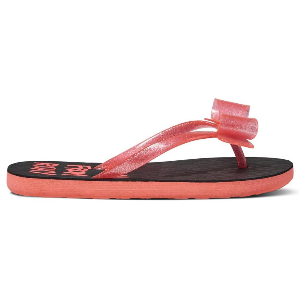 ROXY Girls' Lulu II Flip Flops - RED