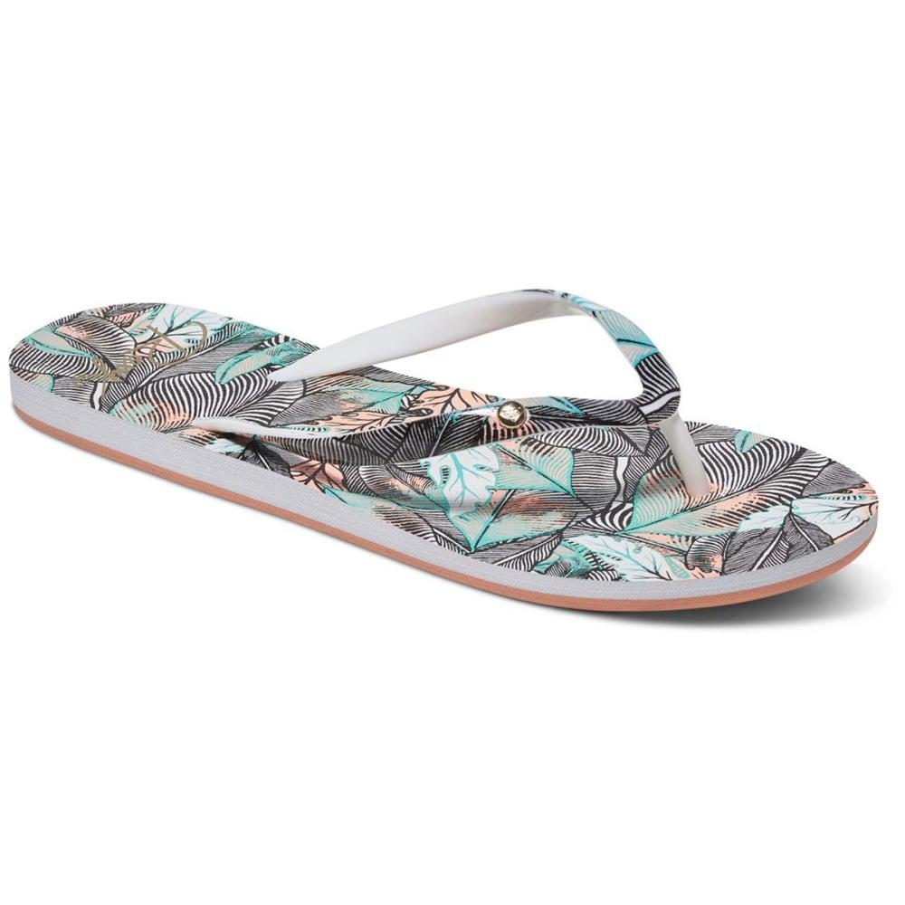 ROXY Women's Portofino Flip-Flops, Dark Grey - DK GREY