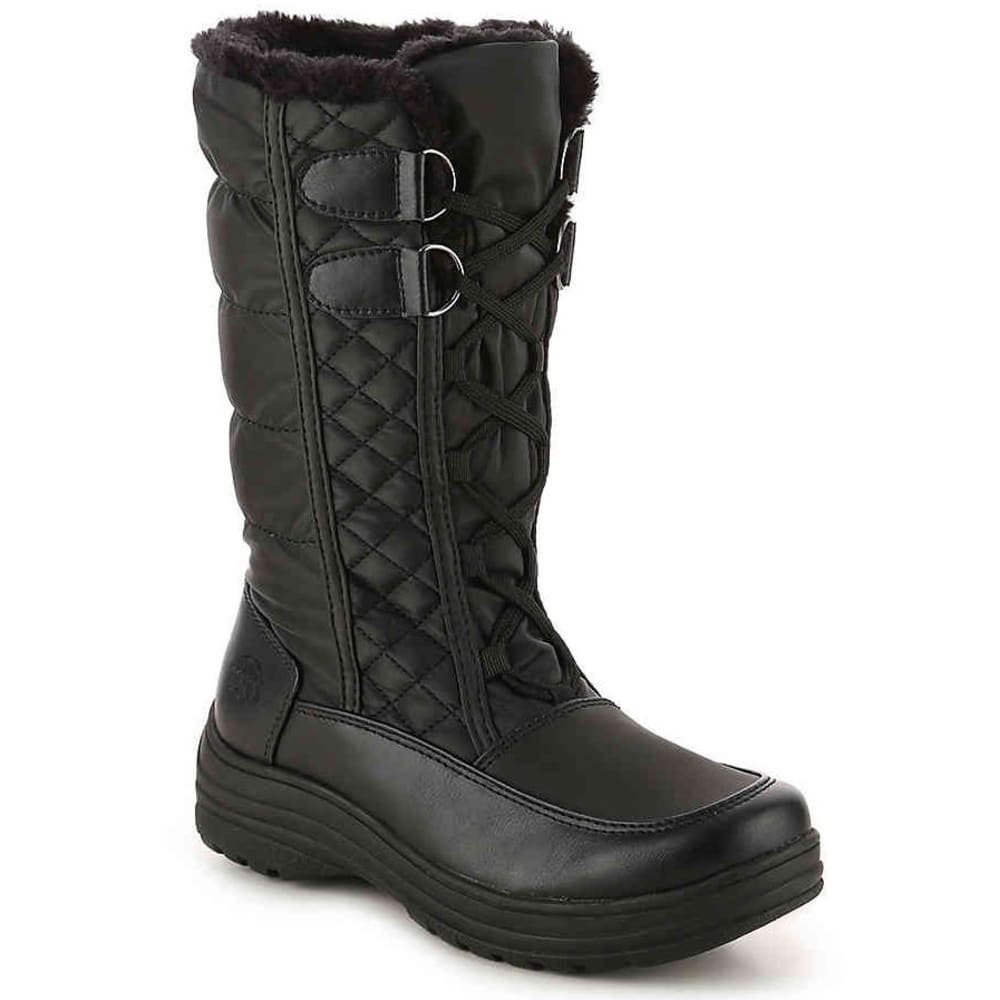 TOTES Women's Corina Waterproof Insulated Storm Boots, Black - BLACK