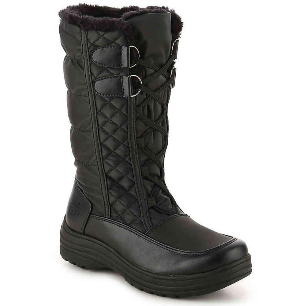 TOTES Women's Corina Waterproof Insulated Storm Boots, Black - BLACK