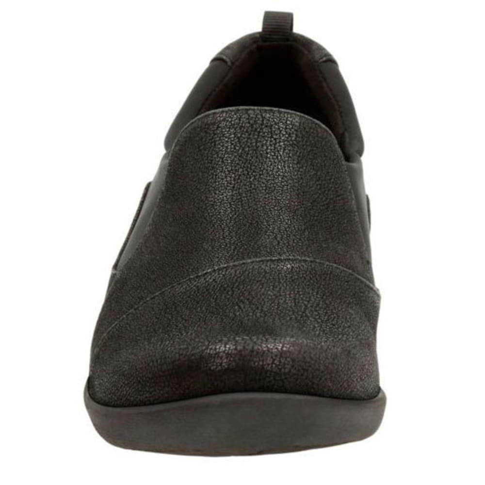 CLARKS Women's Sillian Paz Casual Slip-On Shoes, Black Synthetic - BLACK