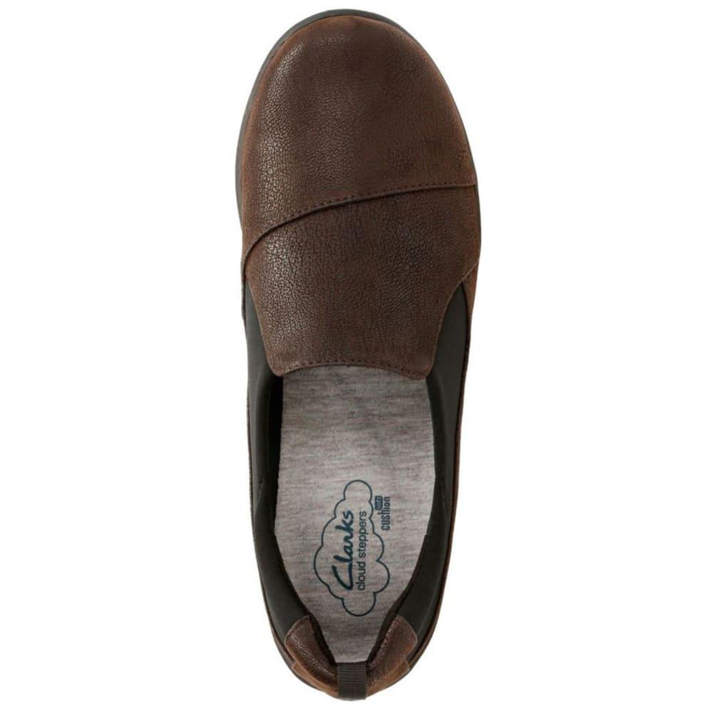 CLARKS Women's Sillian Paz Casual Slip-On Shoes, Dark Brown - DARK BROWN