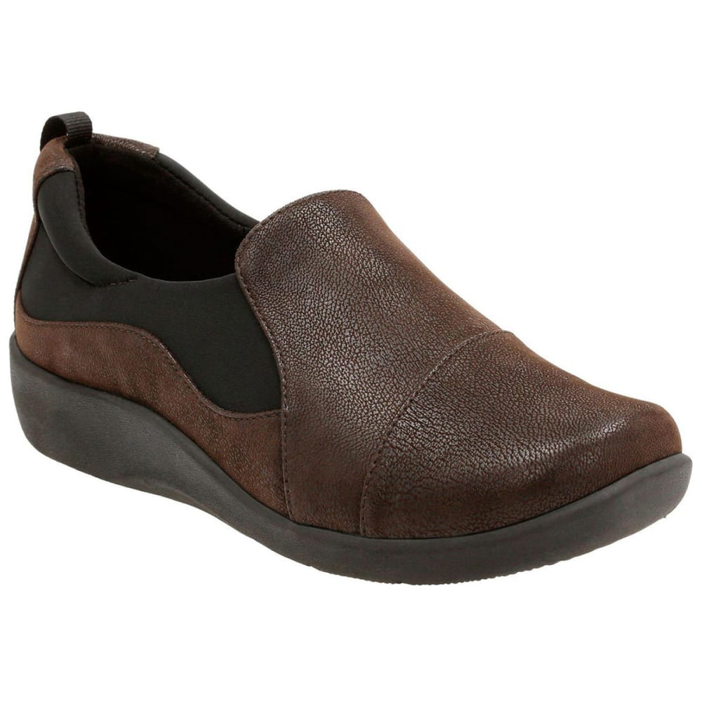 Clarks Women's Sillian Paz Casual Slip-On Shoes, Dark Brown
