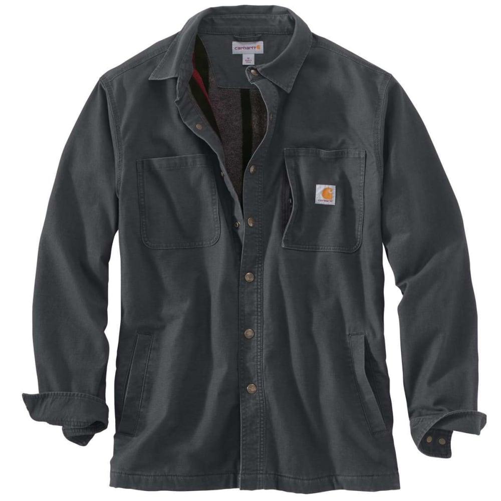 CARHARTT Men's Rugged Flex® Rigby Fleece-Lined Shirt Jacket - 029 SHADOW