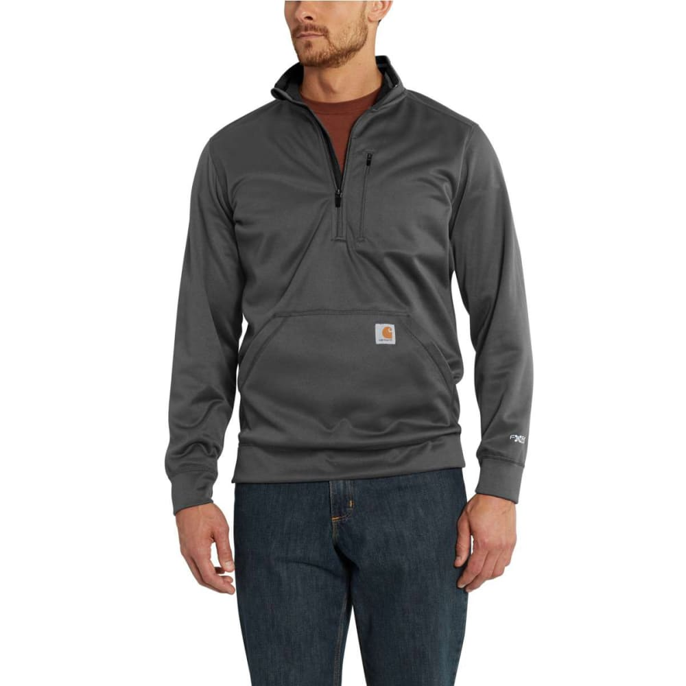 CARHARTT Men's Force Extremes Mock Neck Half-Zip Sweatshirt - DROP 029 SHADOW
