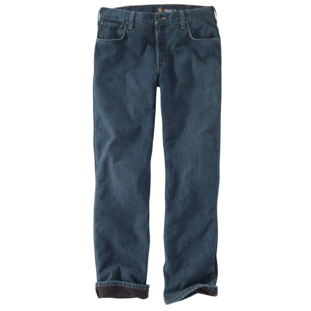 CARHARTT Men's Relaxed Fit Holter Jean/Fleece Lined Jean Pant - 966 BLUE RIDGE DENIM