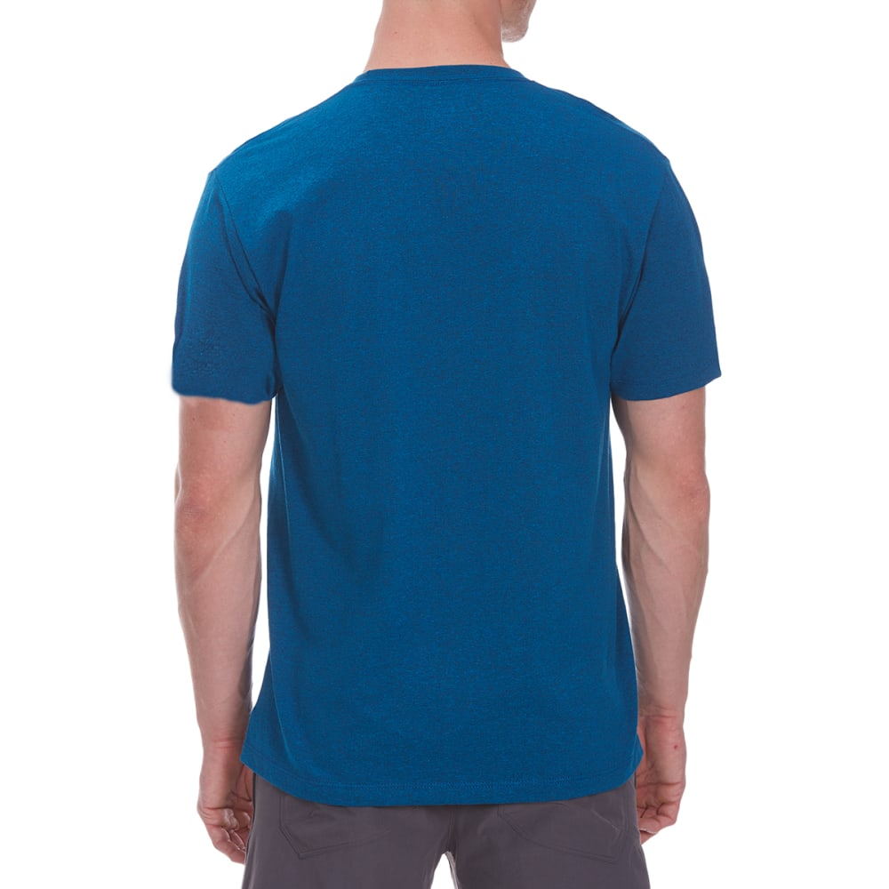 OCEAN CURRENT Guys' Pointers Pyramid Leaves Short-Sleeve Tee - OCEAN TEAL