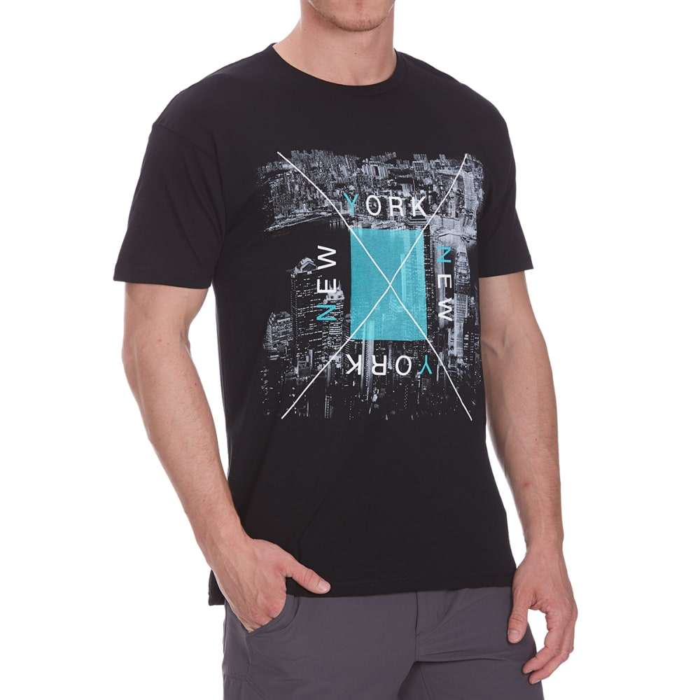 OCEAN CURRENT Guys' Night Before New York Short-Sleeve Tee - BLACK