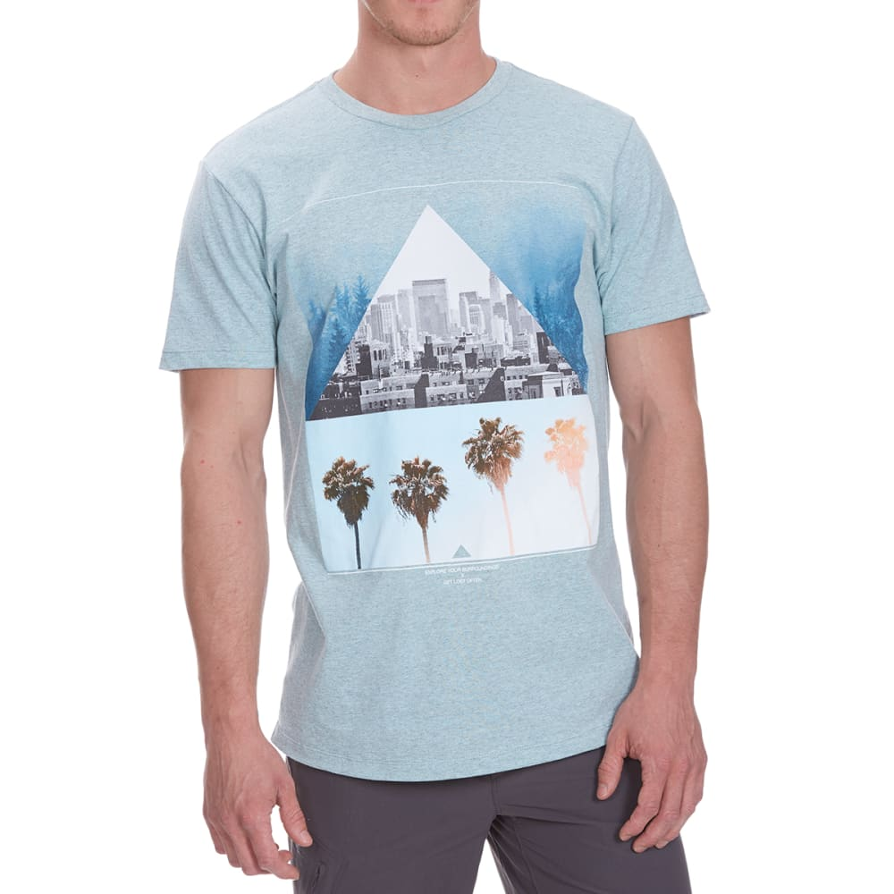 OCEAN CURRENT Guys' Discover More City/Palms Short-Sleeve Tee S