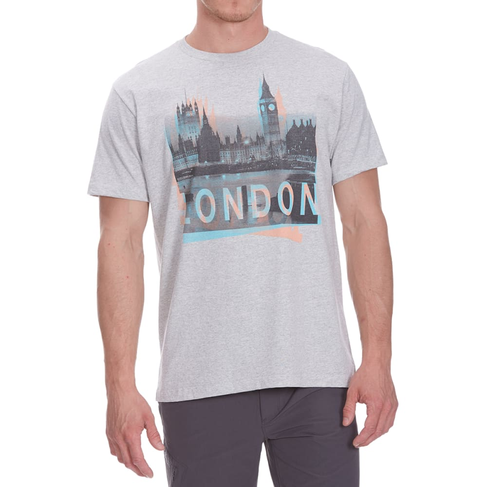 OCEAN CURRENT Guys' Big Ben London Short-Sleeve Tee - CONCRETE