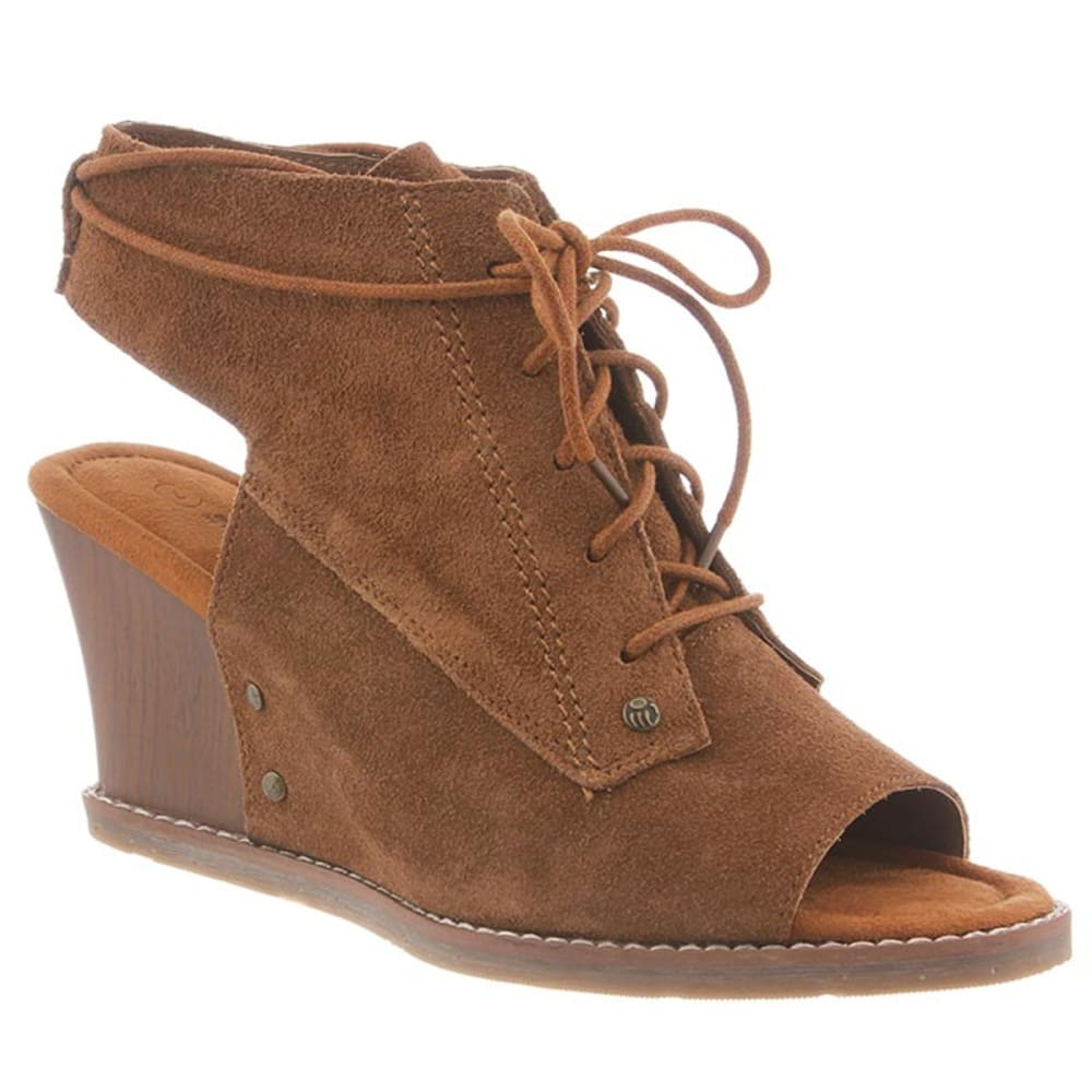BEARPAW Women's Aracelli Wedge Sandals - HICKORY II