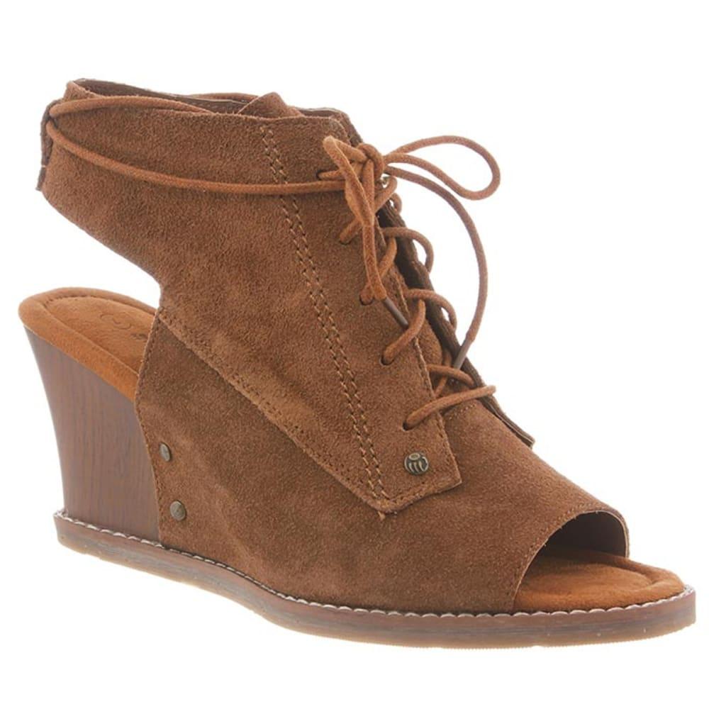 BEARPAW Women's Aracelli Wedge Sandals - HICKORY II