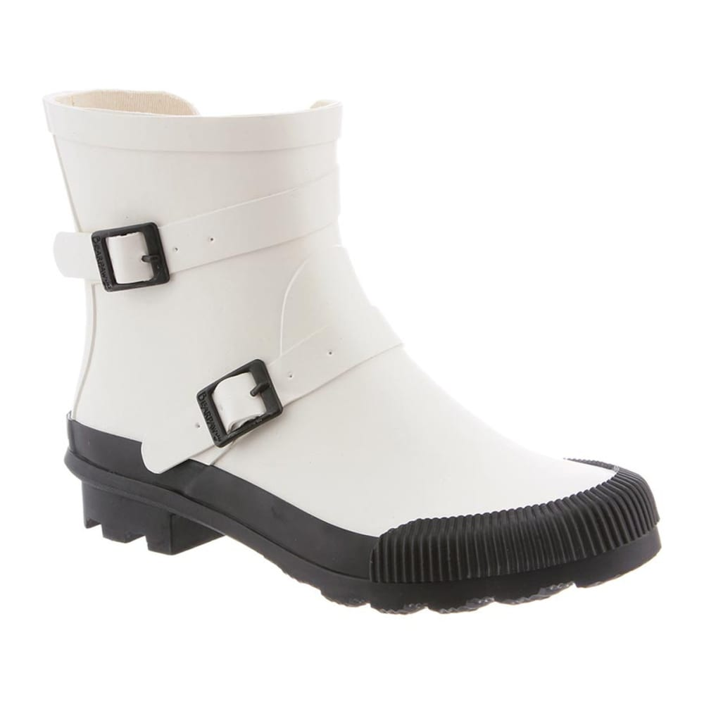 BEARPAW Women's June Waterproof Rain Boots - WHITE/BLACK
